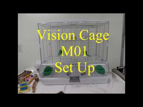 Vision Cage M01 Bird Cage Set Up