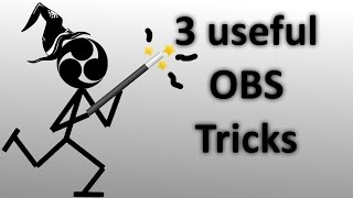 3 USEFUL OBS TRICKS !! - countdown timer, gif image, no accidents