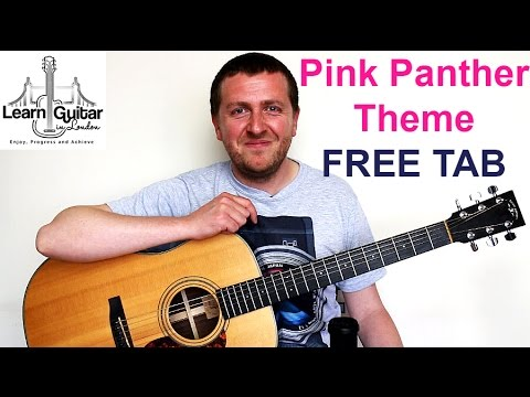 Pink Panther Theme - Guitar Lesson - FREE TAB - Drue James