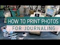 HOW TO PRINT PHOTOS FOR JOURNALING // Printing Tiny Photos from My Iphone // Canon Selphy Tips