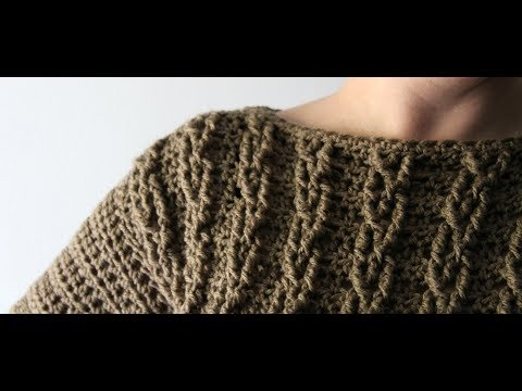 How To Crochet A Sweater - Cable Pullover Sweater/Swatch Tutorial