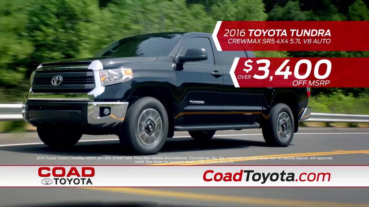 Charming Coad Toyota Letu0027s Go Summer Sales Event