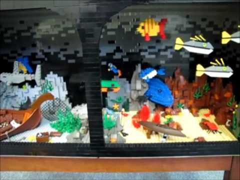 Lego fish tank youtube for Star wars fish tank decorations