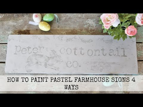 How To Paint Pastel Farmhouse Easter Signs