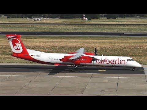 Throwback Air Berlin De Havilland Canada DHC-8-400 D-ABQN Taxiing