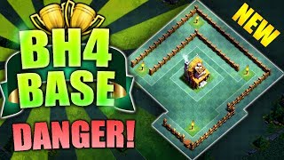 NEW Builder Hall 4 Base w/ PROOF! BEST CoC BH4 Anti 2 Star Builder Base | Clash of Clans