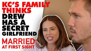 KC's family asks Drew if he has a girlfriend over dinner