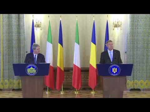 STIRIPESURSE.RO Declaratii Klaus Iohannis cu Paolo Gentiloni