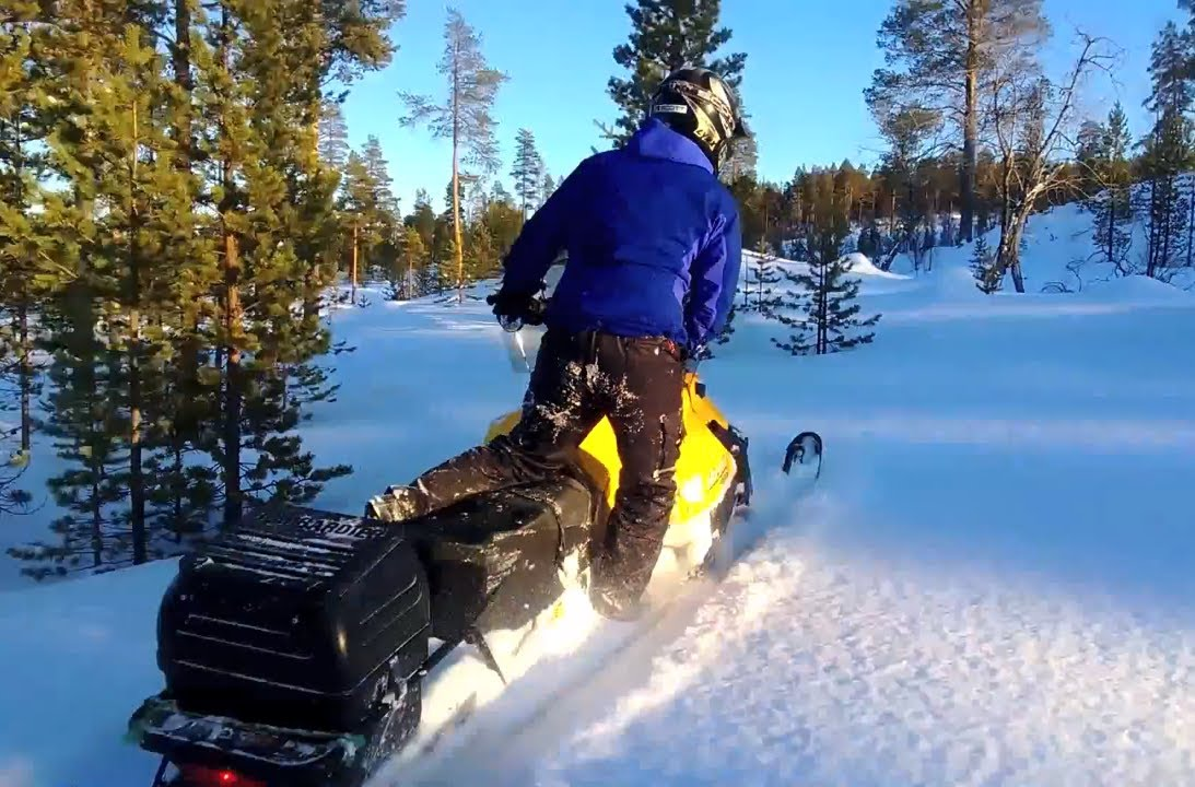 Ski Doo Skandic >> Testing Ski-Doo Tundra four-stroke top speed and maneuverability in Lapland - YouTube