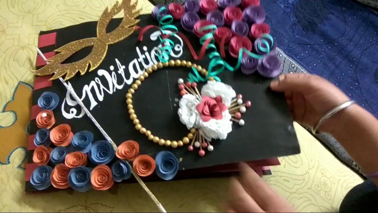Invitation Card Making !!! Awesome Invitation Card For ...