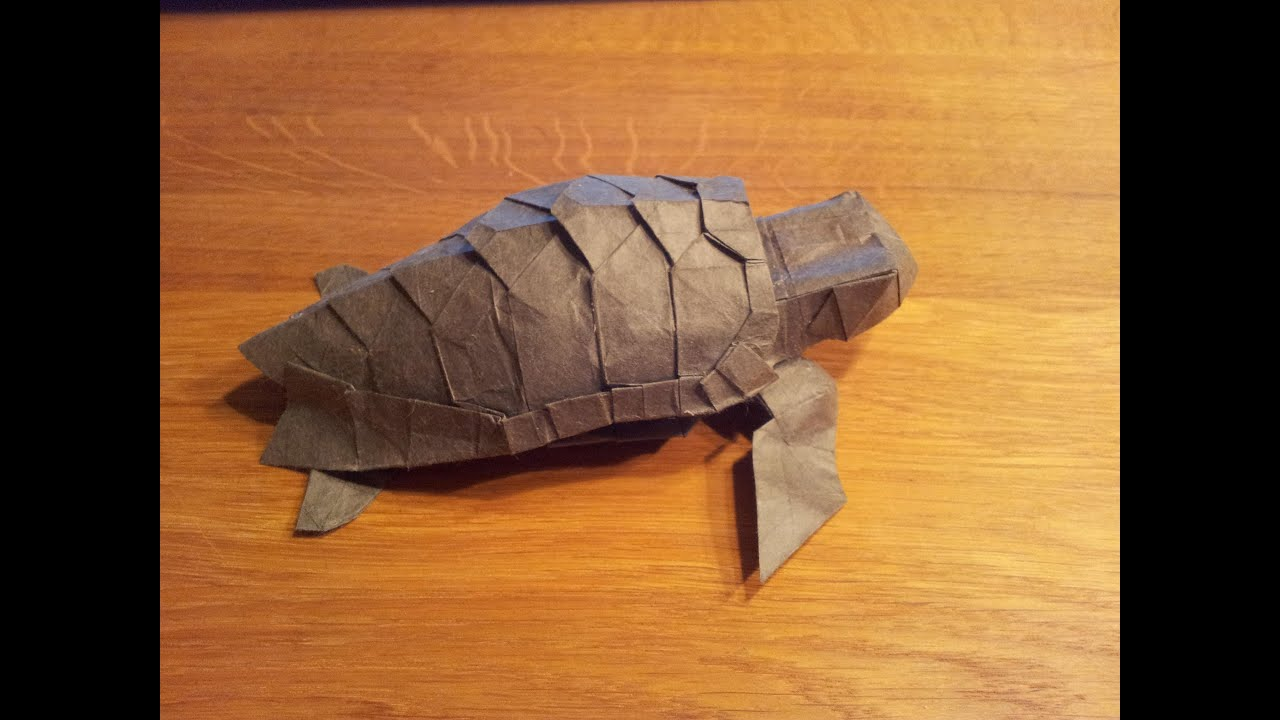 Paper Origami Turtle Diagram 1993 Nissan 240sx Wiring Loggerhead Sea Refold Youtube