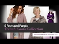 5 Featured Purple Trench Coats Collection Amazon Fashion, Winter 2017