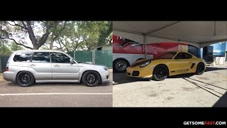 homepage tile video photo for Cayman R vs Forester STI