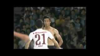 Japanese Player Imitating Mario Balotelli celebration