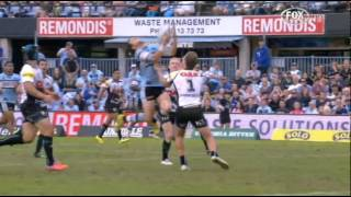 Michael Gordon Try: Round 8 Sharks vs Panthers 27/4/2014