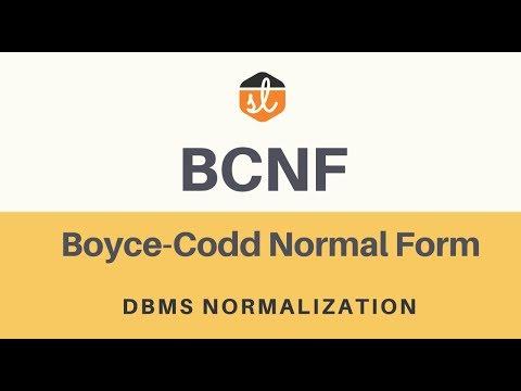 boyce codd normalform
