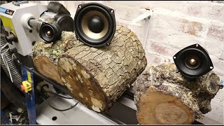 Woodturning - Logs to 2.1 Speaker System