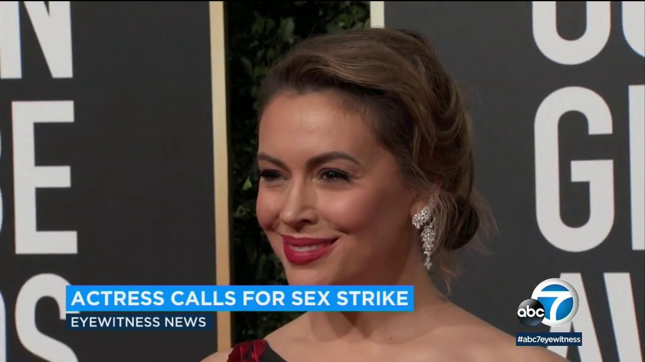 Alyssa Milano Nude Video alyssa milano calls for sex strike, ignites social media debate | abc7