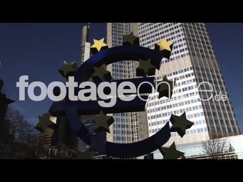 Euro Sign 07 footage 000267 HD
