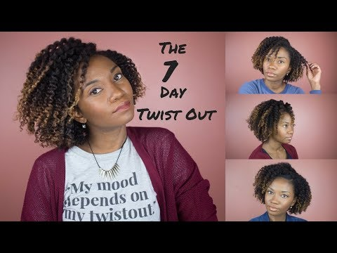 The 7 Day Twist Out || How to maintain a twist out for 7 days