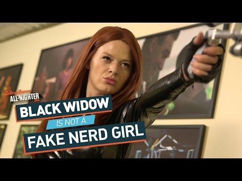 Black Widow Is Not A Fake Nerd Girl (All-Nighter 2014)