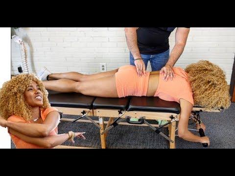 *NO BACK PAIN* After CRACKING Her Back!