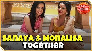Sanaya and Monalisa together for a chat show