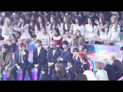181201 블랙핑크(BLACKPINK) 방탄소년단(BTS) TOP10 축하 (Reaction) 워너원,아이콘 4K 직캠 by 비몽