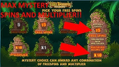 Online slots - Tiki Treasures BIG free spins bonus! MAX multiplier and spins