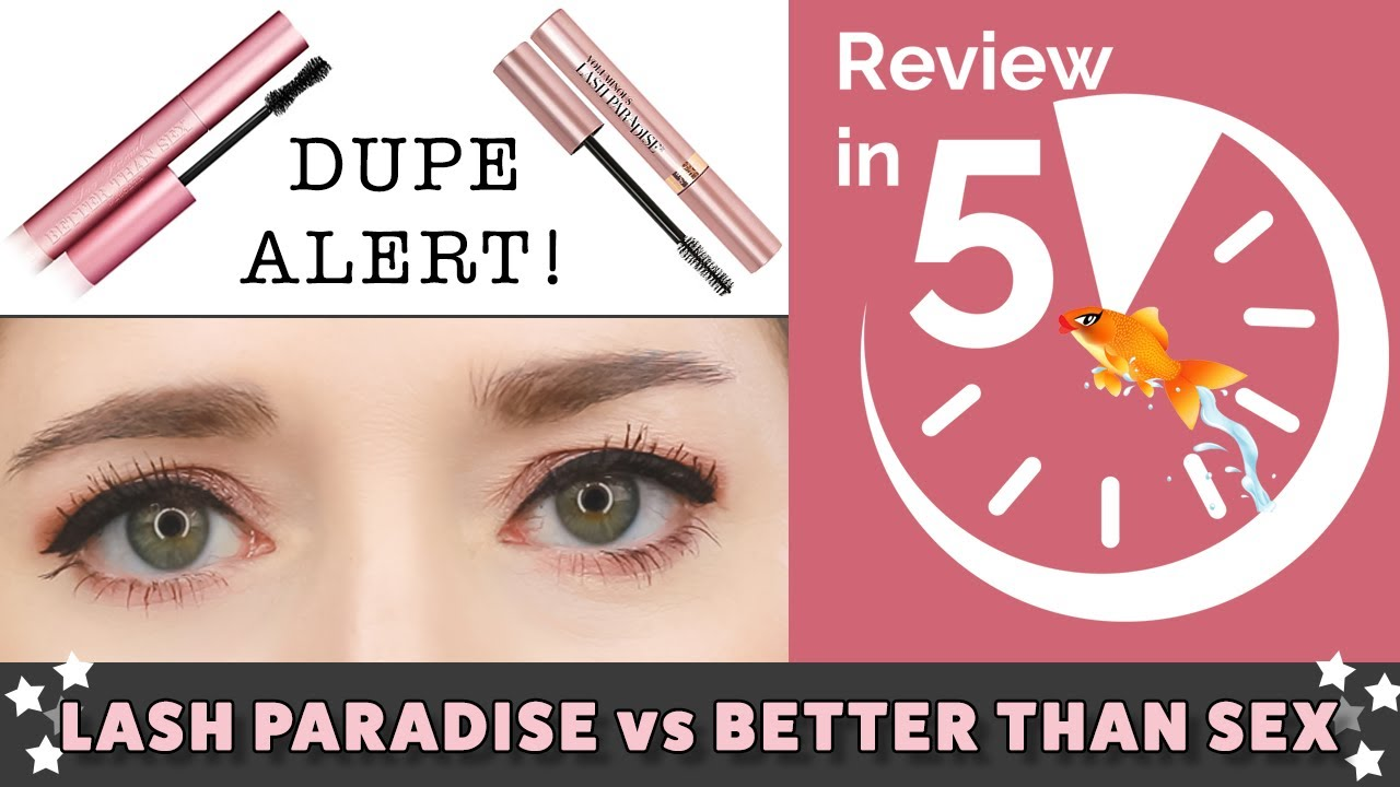 7ca69106554 L'Oreal Lash Paradise vs Too Faced Better Than Sex Mascara | REVIEW IN 5 &  Wear Test