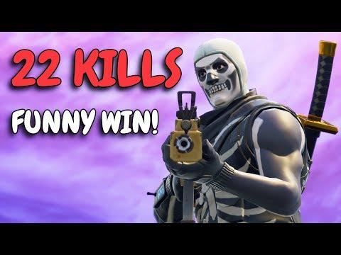 VERY FUNNY WIN!   22 KILL SOLO SQUAD   Crazy ending