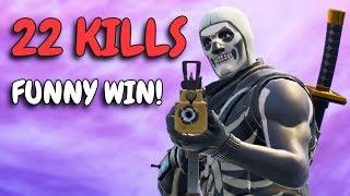 VERY FUNNY WIN! | 22 KILL SOLO SQUAD | Crazy ending