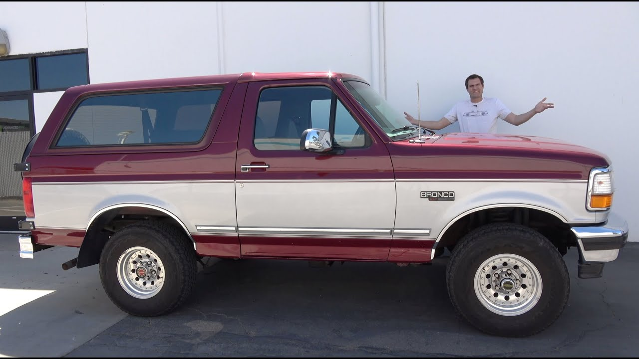 The 1996 Ford Bronco Is the Last Old-School SUV