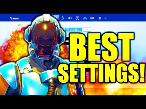 BEST FORTNITE CONSOLE SETTINGS PS4/XBOX UPDATED! FORTNITE BEST CONSOLE SETTINGS BEST SENSITIVITY!