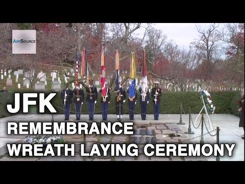 50th Anniversary of JFK Death - Remembrance Wreath Laying Ceremony, Arlington National Cemetery.
