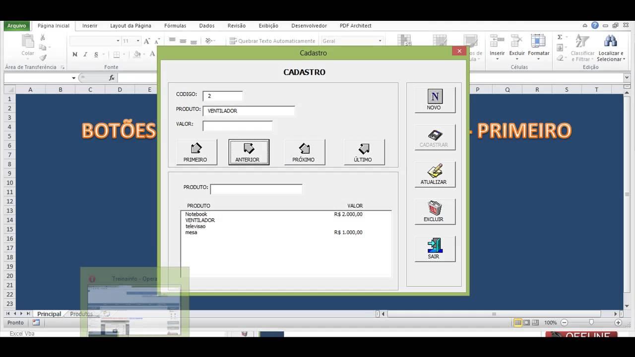 dd3a577189b41 Excel VBA, Botoes Proximo - Anterior - Ultimo - Primeiro - YouTube