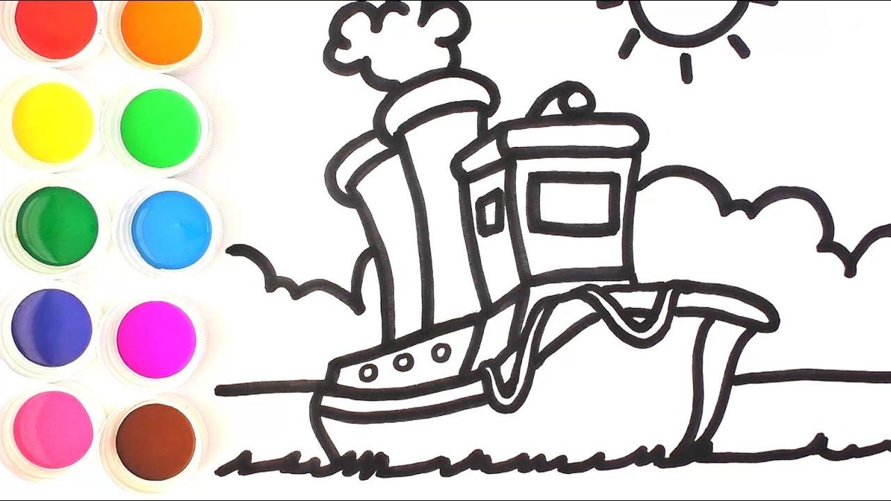 Cómo Dibujar Y Colorear Barco De Arco Iris Videos Para Niños Aprende Colores Funkeep