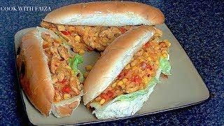 FOOT LONG CHICKEN SANDWICH *COOK WITH FAIZA*
