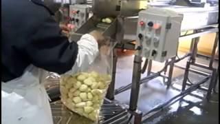 видео промышленная очистка картофеля