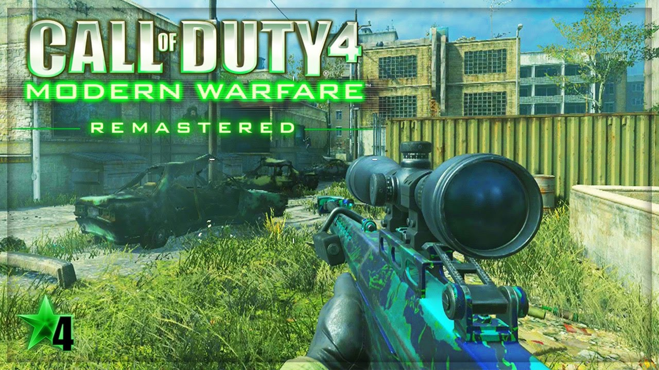 MODERN WARFARE REMASTERED SNIPING GAMEPLAY CoD4 MWR