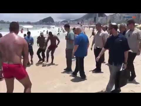 Primeiro Ministro De Israel, Benjamin Netanyahu, Visita Praias No Rio De Janeiro