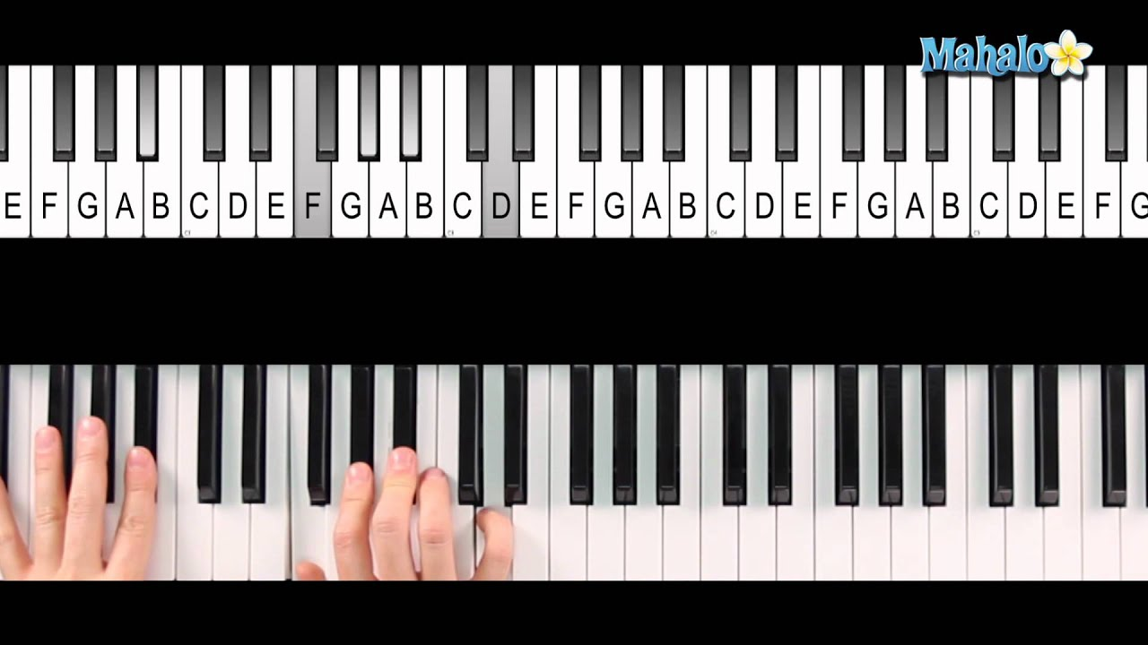 How To Play A B Flat 7 Chord Bb7 On Piano Youtube