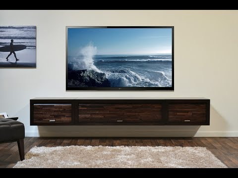 Wall Mount Tv Stand With Shelf Youtube