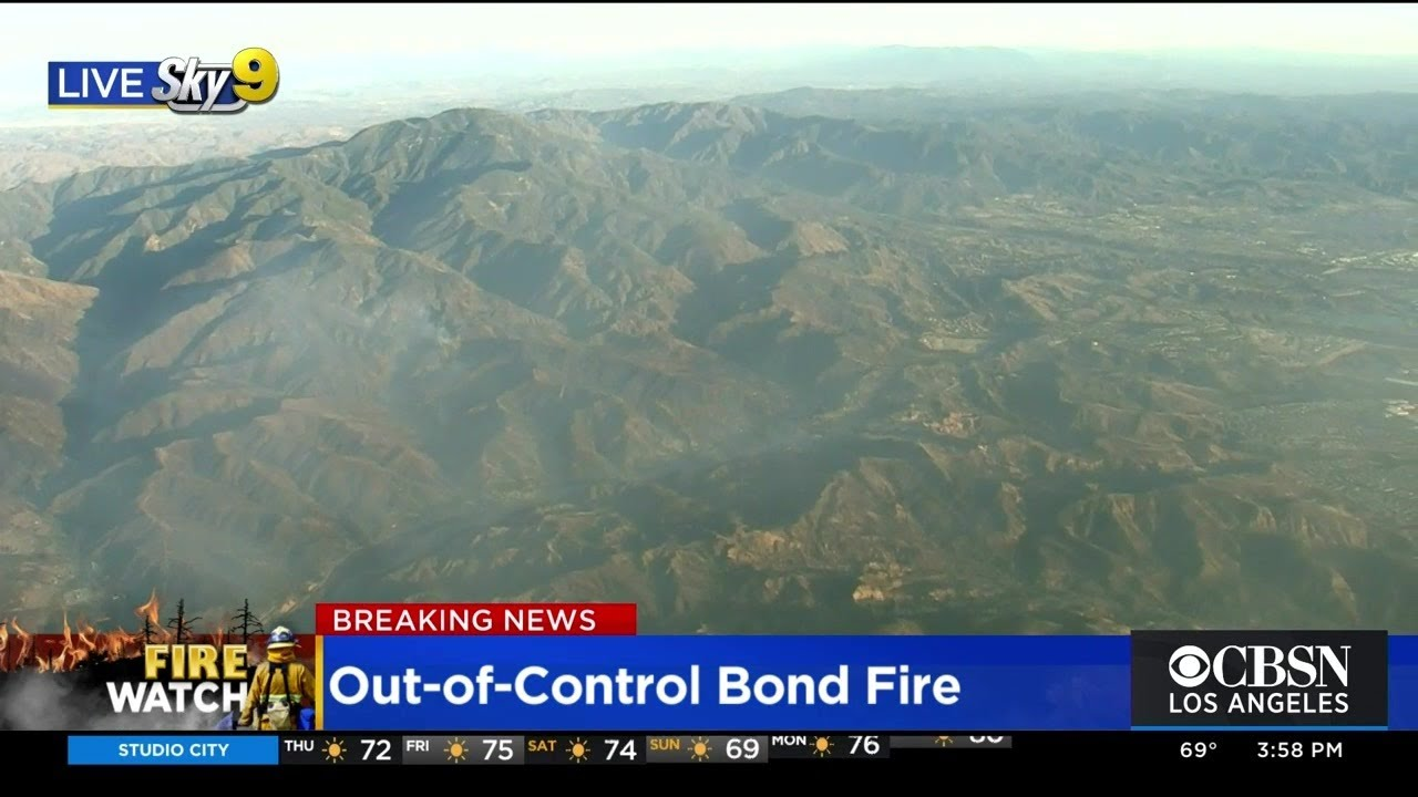 Firefighters Hurt, Thousands Evacuated In Wind-Driven Bond Fire ...