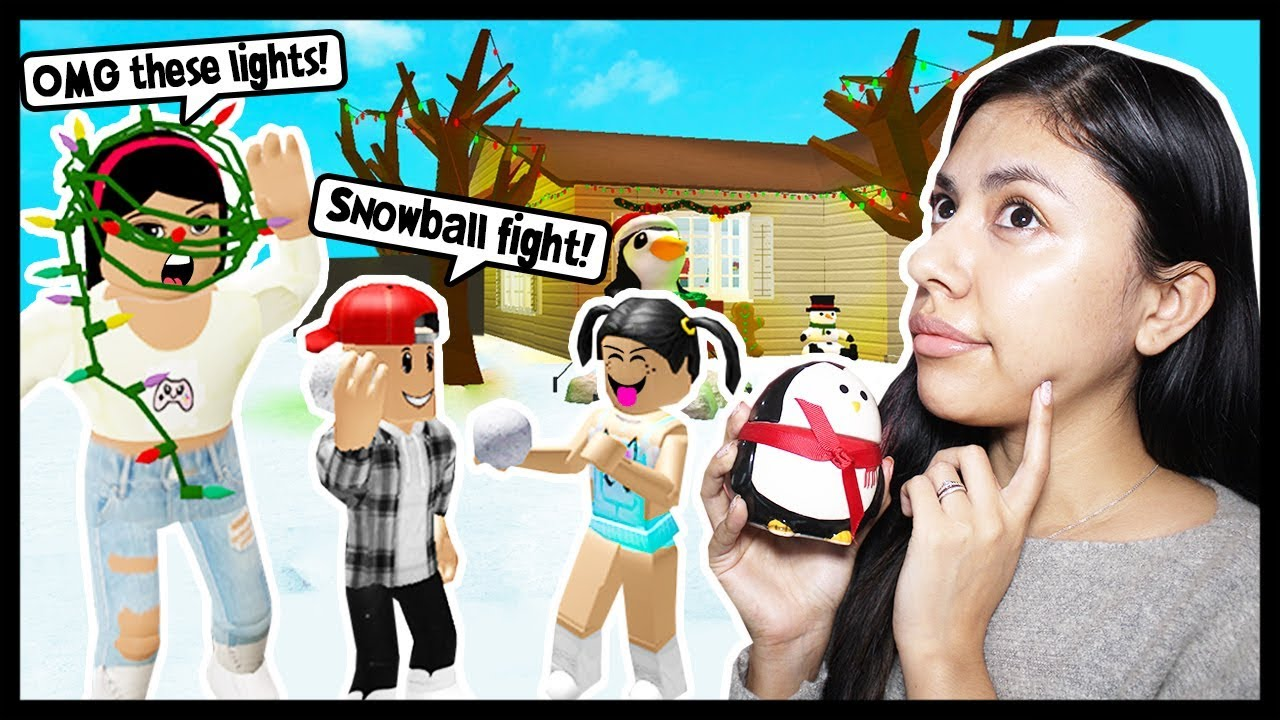 Decorating Our House For Christmas Roblox Roleplay Bloxburg
