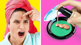 GENIUS BEAUTY HACKS FOR ALL LIFE SITUATIONS || Beauty Routine Tips by 123 Go! Gold