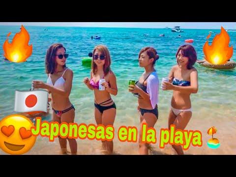 Japonesas en la playa / Sin censura