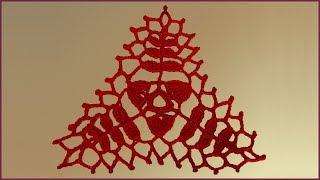 Треугольный мотив крючком. Мотив для шали. Вязание крючком мотива. Шаль крючком. (pattern crochet)