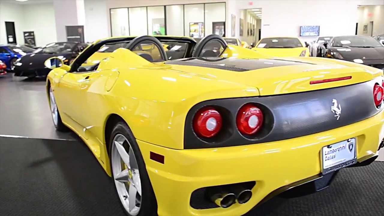 2004 Ferrari 360 Spider Yellow Lc273 Youtube
