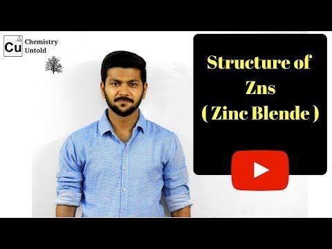 SOLID STATES || Structure Of ZnS ( Zinc blende ) || IIT JAM | IIT JEE | NEET | CSIR NET